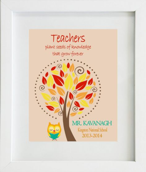 Thank You Teacher Print Design 3